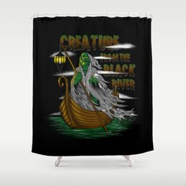 Pay the Gill-Man Shower Curtain