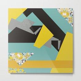 bee' flower geometric Metal Print