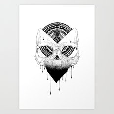Enigmatic Skull Art Print