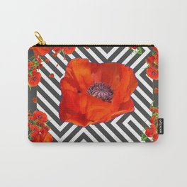 AWESOME GREY GRAPHIC ART YELLOW-RED POPPIES GARDEN Carry-All Pouch