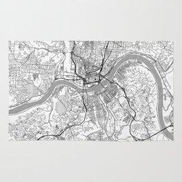 Cincinnati Map Line Rug