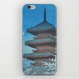 1953 Kawase Hasui Japanese Woodblock Print Ueno Park Tokyo iPhone Skin