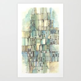 Urbe fragmentos N° 6 (City ​​fragments N° 6) Art Print