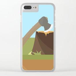 Wood Cutting Clear iPhone Case