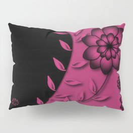 Pink Yarrow Floral Abstract Pillow Sham