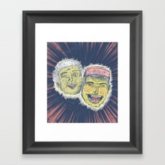 Stone cheeks Framed Art Print