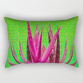 OPTICAL ART MAUVE PURPLE CACTUS Rectangular Pillow