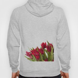 Red tulips bouquet sprinkled Hoody