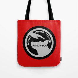 Animal Assisted Activities  - THERAPY DOG logo black white Tote Bag