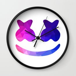 marshmello face Wall Clock