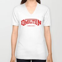 sports V-neck T-shirts featuring DMolition Sports by DMolition