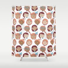 Pattern Project #22 / Girl Gang Shower Curtain