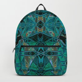 Midori- Art Deco Stained Glass  Backpack