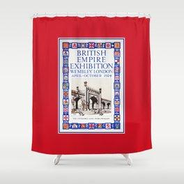 1924 British Empire Exhibition Wembley London Shower Curtain