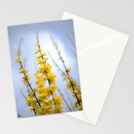 Yellow flowers reaching Stationery Cards