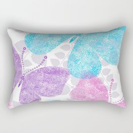 Colorful Butterflies and Flowers V10 Rectangular Pillow