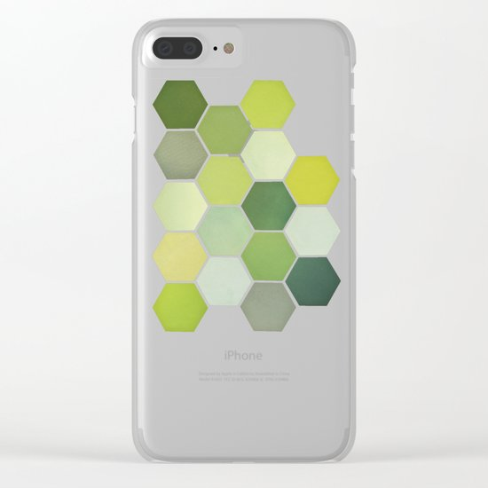 Shades of Green Clear iPhone Case