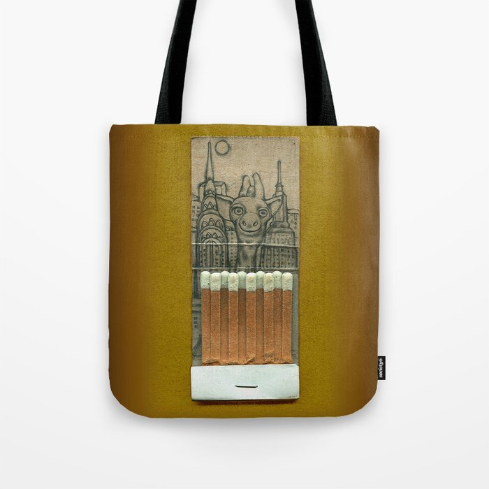 Giraffe in the City Tote Bag