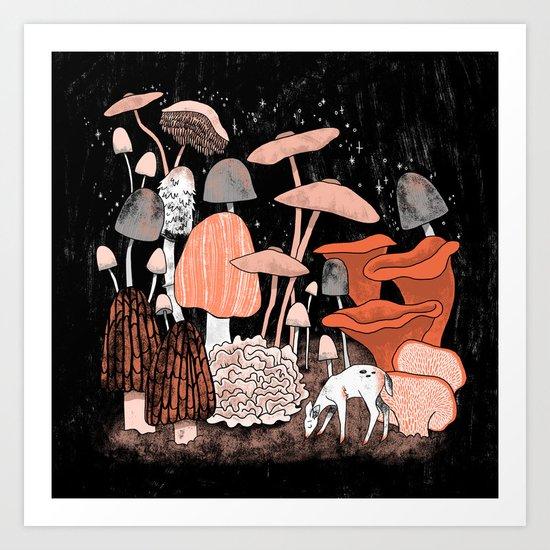 Twilight Fungi Art Print