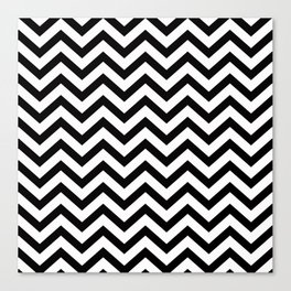 Simple Chevron Pattern - Black & White - Mix & Match with Simplicity Canvas Print