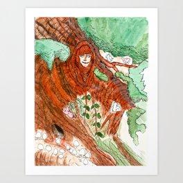 Series 1.1: Wooden Goddess  Art Print