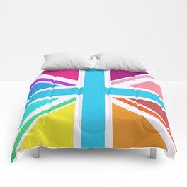 Union Jack/Flag Design Multicoloured Comforters