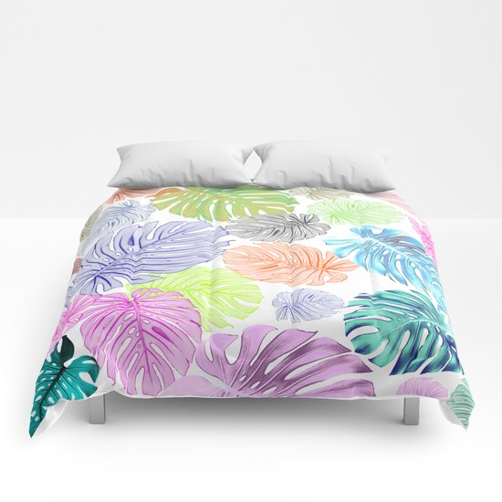 Tropical abstract Comforters