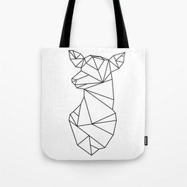 Geometric Doe (Black on White) Tote Bag