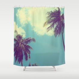 Double Palm Tree Shower Curtain