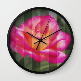 Rose Flower From A New Angle Wall Clock