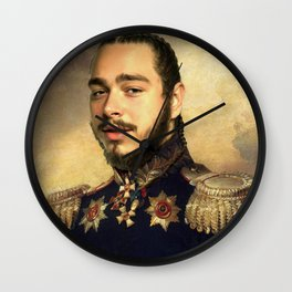 Post Classical painting Wall Clock