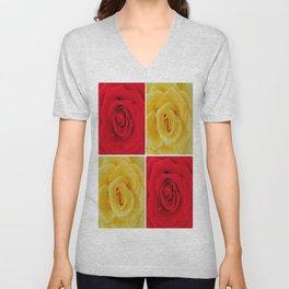 Red & Yellow Unisex V-Neck