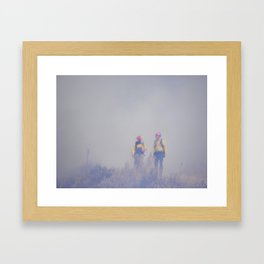 Out of the Smoke Framed Art Print