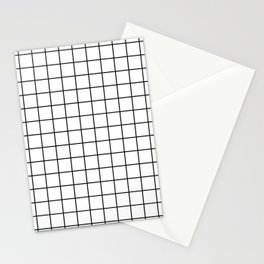 Black Lines Pattern Stationery Cards