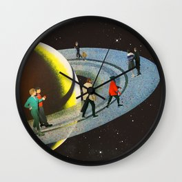 Saturn's Rink Wall Clock