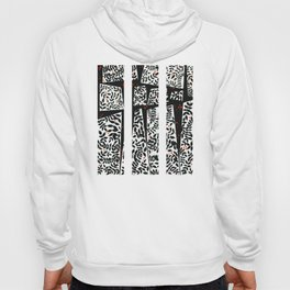 Black leaves on abstract background Hoody