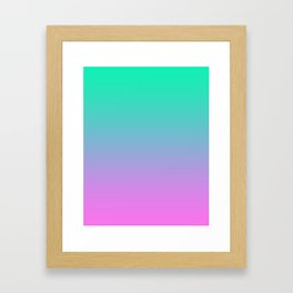 Pink turquoise , blue Ombre Framed Art Print