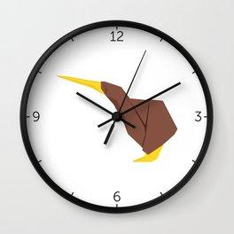 Origami Kiwi Wall Clock