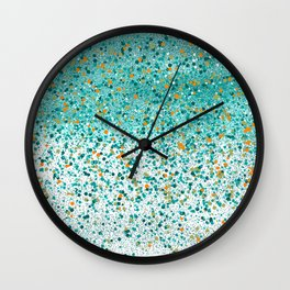Sea Foam - Stipple Pattern Wall Clock