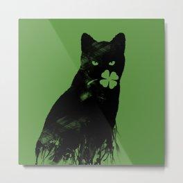 St Paddy's Cat Metal Print