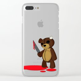 Psycho Teddy Clear iPhone Case