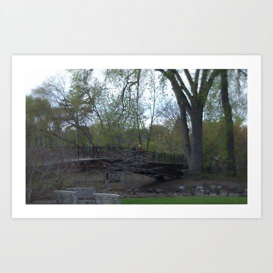Dry Bed Bridge Art Print