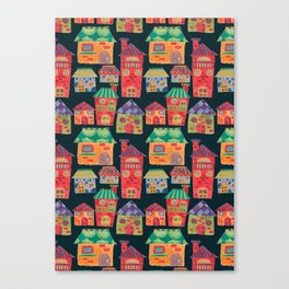 The Colorful Houses Canvas Print