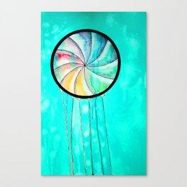 the waiting jellyfish Canvas Print