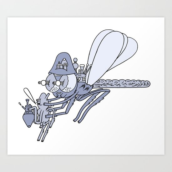 happy insect helper  Art Print