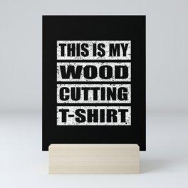 Lumberjack woodworking tree felling forest Mini Art Print