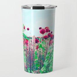 alliums in technicolor Travel Mug