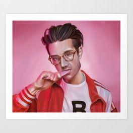 Dan Smith - Rose-Colored Boy Art Print
