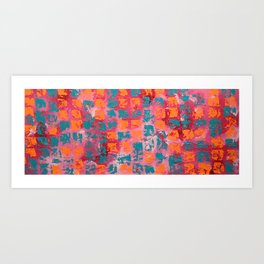 Abstract - Tickled Pink Art Print