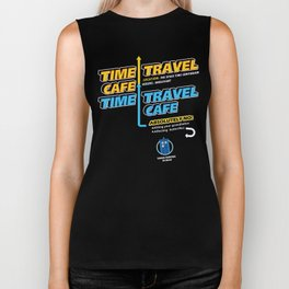 Time Travel Cafe Biker Tank